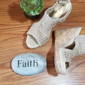 Audrey Brooke crocheted wedge heels 8
